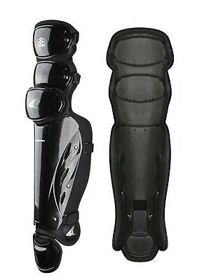 "Champro Pro-Plus Umpire Leg Guard 18.5"" Baseball Softball Protection Black CG385"