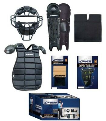 Champro Sports Starter Umpire Kit Uniform Equipment Mask Pads Black CBSUSK