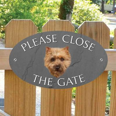 Cairn Terrier Sign Please Close The Gate Sign,  Terrier Dog Shut the Gate Plaque