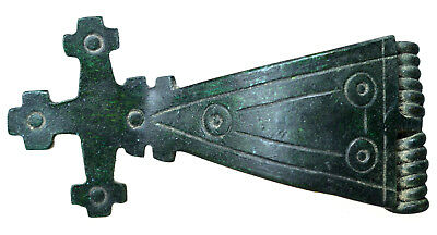 Byzantine Bronze Cross Brooch Fibula