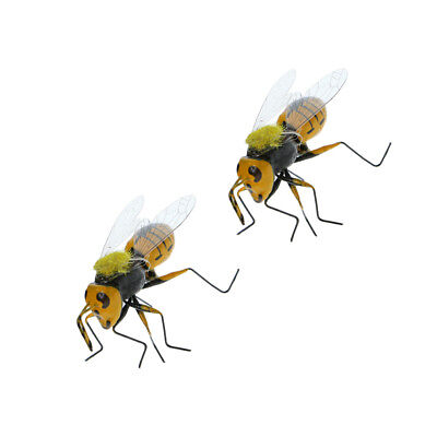 2x Vivid Insect Bee Imitation Animal Fridge Magnet Outdoor Lawn Tree Decor