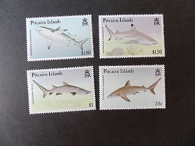 Pitcairn 1992 Sharks SG414/7 marine life MNH UM unmounted mint never hinged