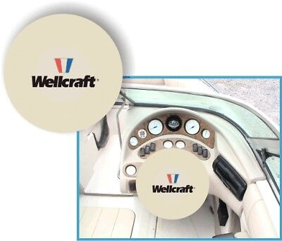 WHITE 100% Microfiber WELLCRAFT Stretchable Boat Steering Wheel Cover