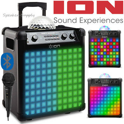 ION Party Rocker Max Wireless Speaker Party Lights Bluetooth Karaoke with Mic