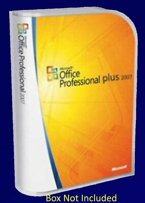 Microsoft Office Professional 2007 Full Version Inc's Word Excel etc - 5 PC's