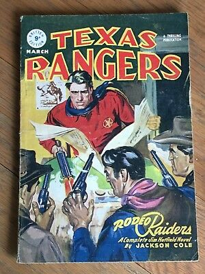 Texas Rangers - British Reprint Edition - March 1948 - gunfight cover!