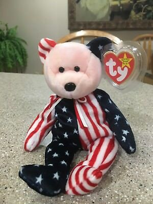 TY Beanie Baby - SPANGLE the Bear Pink Head Version