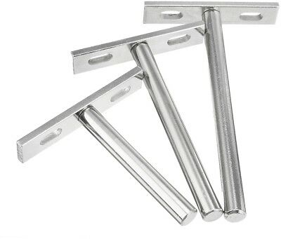 10Pcs Concealed Floating Hidden Shelf Support Metal Brackets 3/4/5 Inch
