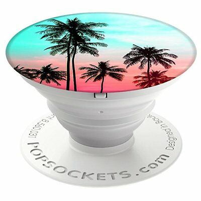 PopSocket - Palm Trees Teal PopSocket w/ Grey Base Universal Holder