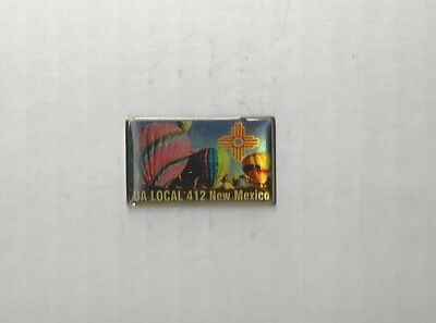 UA PLUMBERS PIPEFITTERS STEAMFITTERS UNION Local 412 NEW MEXICO Pin Pinback