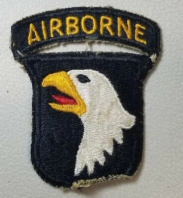 Type 3 Vintage Ww2 Us 101St Airborne Division Patch  Attached Tab 50A. Bag 2