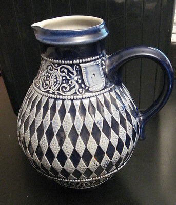 Stunning Antique/Vintage Small Ornate Ceramic Urn/Pitcher, Greek? Mediterannean?