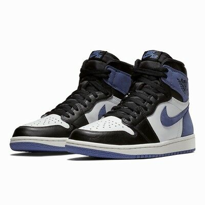 a3a317914a0 NIKE AIR JORDAN Retro 1 OG Blue Moon 555088 115 White Black Best ...