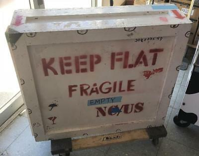"Large 34x31x11"" Heavy Wood Foam Filled Artwork Equipment Shipping Crate"