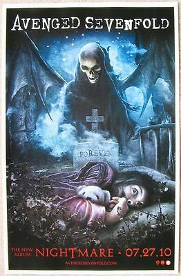 AVENGED SEVENFOLD Nightmare Album POSTER 2-Sided 11x17