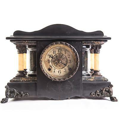 "Antique Seth Thomas ""Shasta"" Style Adamantine Mantle Clock *Running* C. 1905"
