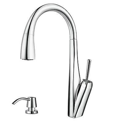 Price Pfister GT529-MPC Zuri Pull-Down Sprayer Kitchen Faucet w/Soap Disp, CH