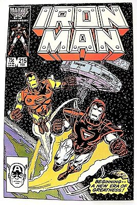 """IRON MAN"" Issue # 215 (February, 1987) (Marvel Comics)"