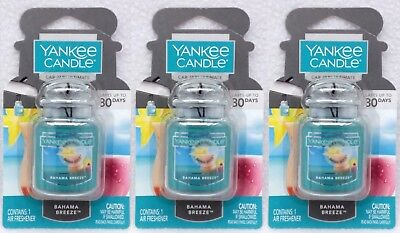 3 Yankee Candle BAHAMA BREEZE Car Jars Ultimate Air Freshener