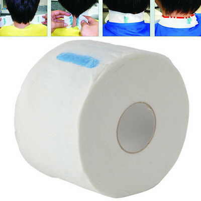 100X White Pro Stretchy Disposable Neck Paper Salon Hairdressing Accessories