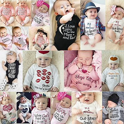 Newborn Baby Boy Girls Cotton Romper TOPS Jumpsuit Bodysuit Clothes Outfits Lot