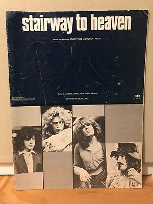 1972 Led Zeppelin Stairway To Heaven Music Sheet Jimmy Page / Robert Plant