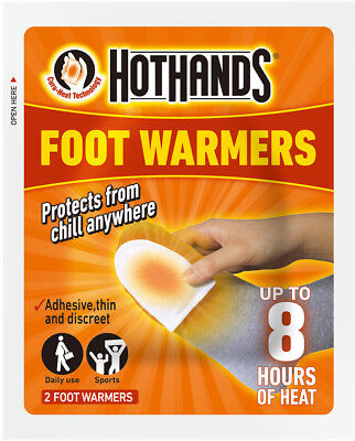 Hot Hands Feet Foot Toe Insole Heat Warmer Pack Of 2