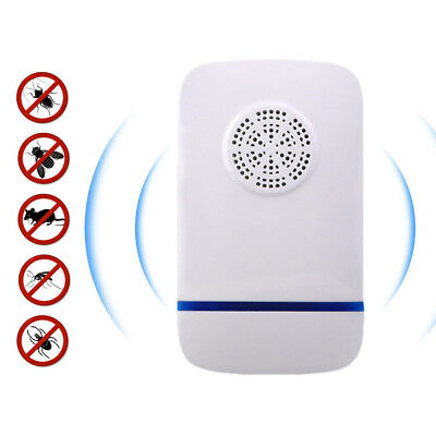 Ultrasonic Pest Repeller Supply Magnetic Light Cockroaches Drive Flies Debris