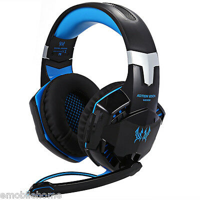 EACH G2000 Gaming Headset Stereo Sound Headphone with Mic for PC Games 3 Colour