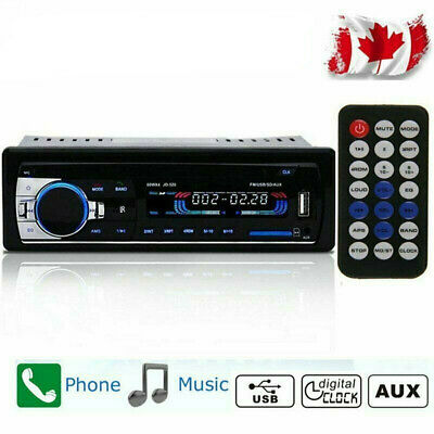Bluetooth Car Auto Stereo Audio In-Dash FM MP3 Music Radio Player AUX-IN Canada