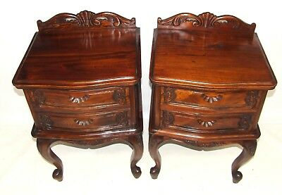 PAIR Antique French Style Bedside Cabinets / Lamp Stands