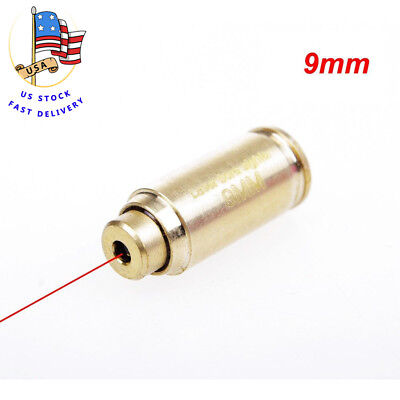 US CAL. 9mm Red Dot laser Cartridge Brass Boresight Sight&Battery for hunting