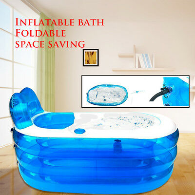 Portable Large Adult Child Inflatable Bath Tub PVC Spa Warm Bathtub AU
