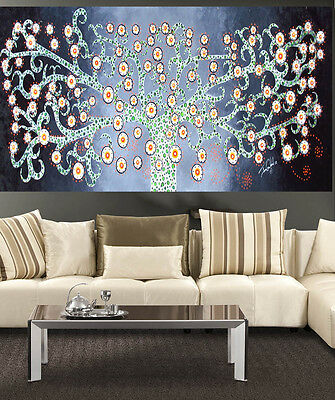 huge Art Painting Authentic inspired Tree Flower Abstract by Jane green