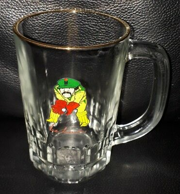 Rare Vintage Collectable Rod Marsh Cricket Beer Glass Mug Great Used Condition