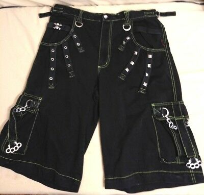 Tripp nyc Hot Topic Shorts   Goth Emo Chains vintage Zip Off