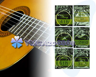 6Pcs / Set 1m 3ft Nylon Strings Silver-Plated For Acoustic Classical Guitar