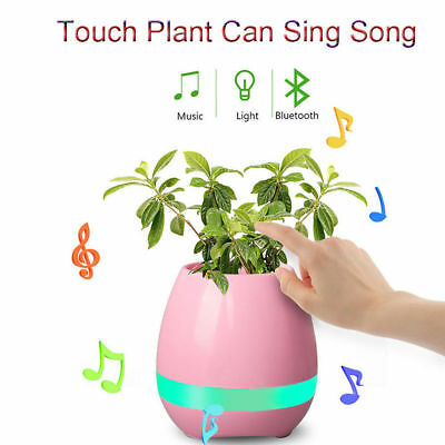 Smart LED Music Flower Pots Bluetooth Speaker Play The Piano Decoration Planter