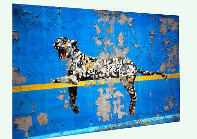 Banksy repro custom pop Art Painting street Leopard Cat wall By Pepe Australia