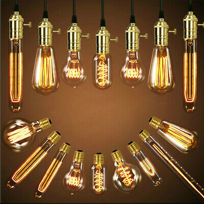 E27 B22 E14 25W 40W 60W Dimmable Vintage Retro Filament Edison Light Bulbs Lamps