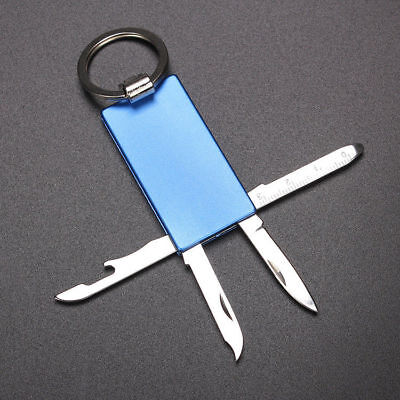 Multi Utility Keychain Tool Stainless Steel Mini Pocket Bottle Opener Camping