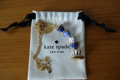 Kate Spade New York Tea Time Cups Pendant Long Necklace. New
