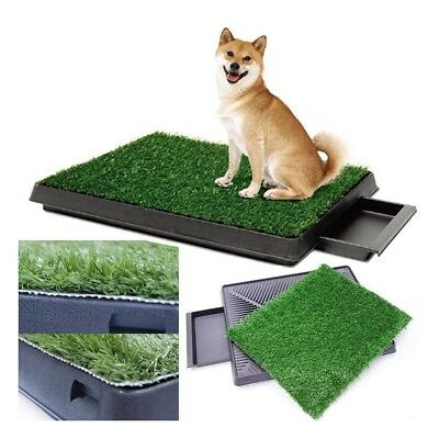 Dog Potty Training Pee Turf Grass Pad Indoor Pet Patch Large Pup Mat Trainer New