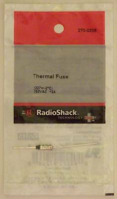 RadioShack 270-0208 Thermal Fuse 227°C or 441°F 250VAC 15A