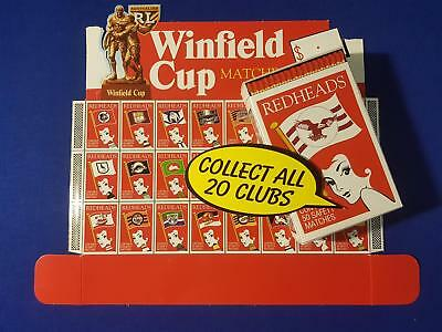 Winfield Cup Genuine Official Rare Redheads Matchbox Rugby Demo Shop Display