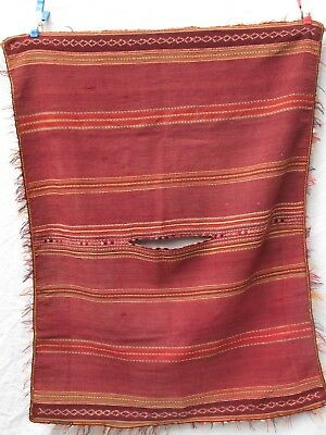 Antique Altiplano Bolivian Huipil Handwoven Wool Textile