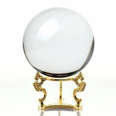 Amlong Crystal Clear Ball 150mm 6 inch Including Golden Dragon Stand Crystals