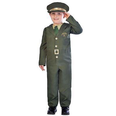 Kids Boys Wartime Military Army Officer British Fancy Dress Book Week Costume