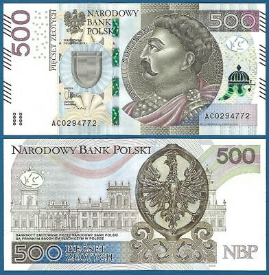 Poland 500 Zlotych P New  2016 UNC  Low Shipping! Combine FREE!