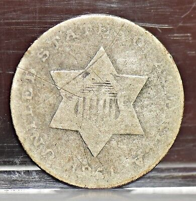 1851 Three Cent Silver 3CS - Good Details (#12391)